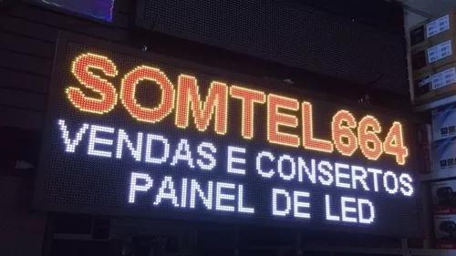 Painel led 200x72 p10 externo c/vídeo 110v/220v