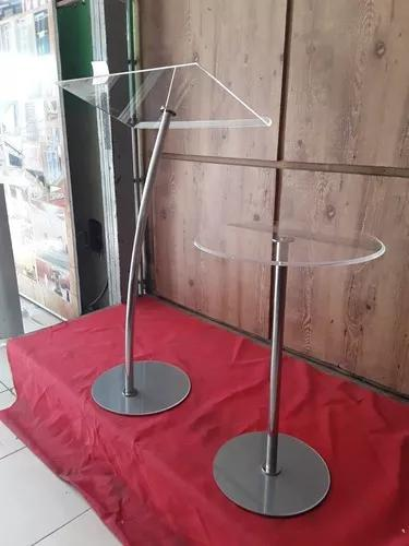 Púlpito e mesa acrílico e aço inox estilo hillsong s/