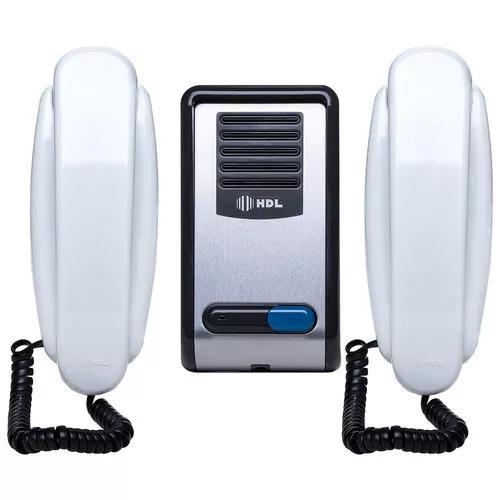 Porteiro eletrônico hdl 2 pontos interfone f8 s ntl