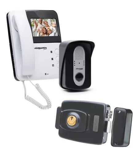 Vídeo porteiro vp3 e fechadura elétrica pt-710