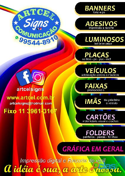 Banners   adesivos   faixas   placas   luminosos sp zn