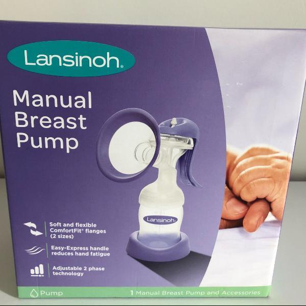 Bombinha manual para tirar leite lansinoh + concha para seio