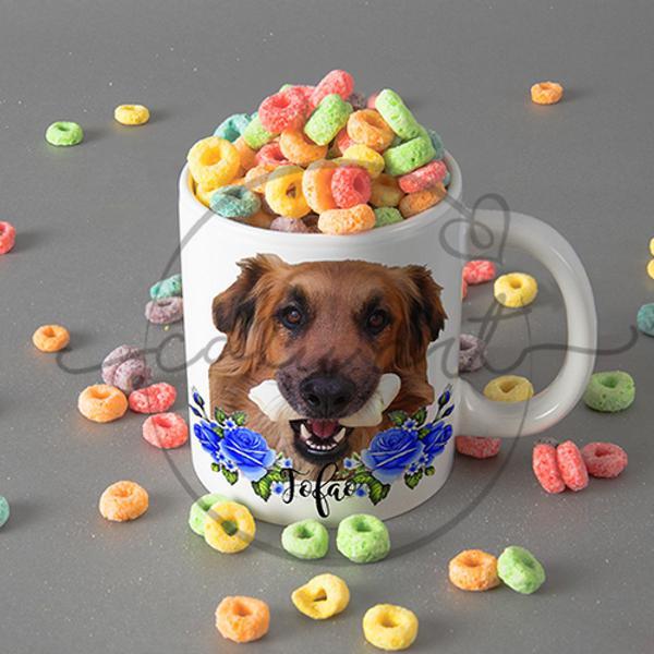 Caneca personalizada com foto do seu pet cachorro gato