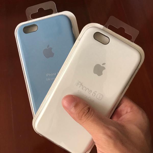 Capinha case silicone iphone 6s original lacrado