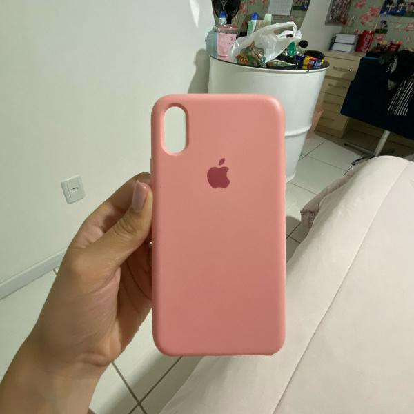 Case original apple iphone x, rosa bebê!