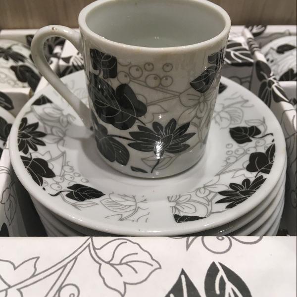 Conjunto xícaras de café 12 peças