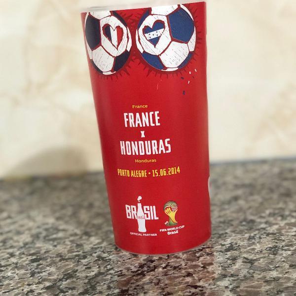 Copo colecionável copa do mundo 2014