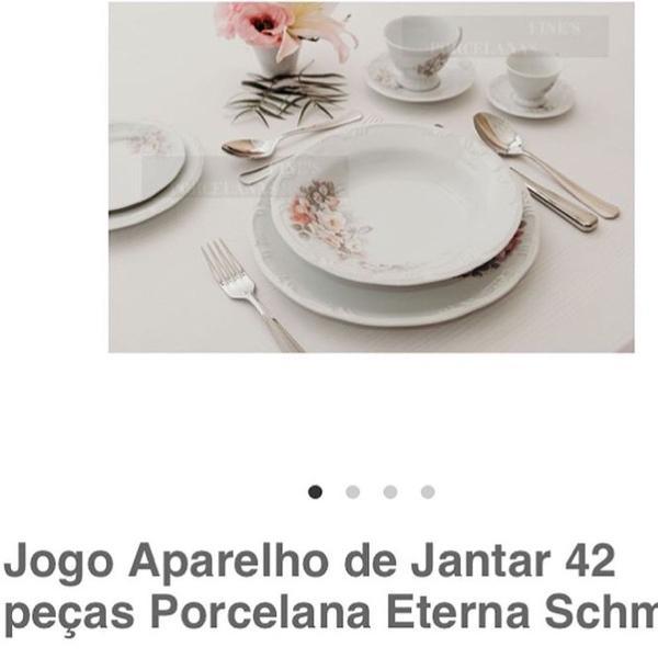 Jogo de aparelho de jantar de 42 peças em porcelana schmidt