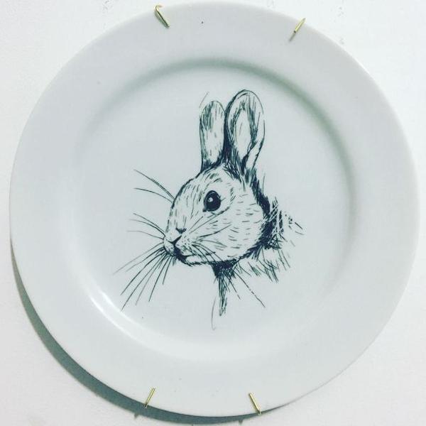 Prato porcelana coelhinho