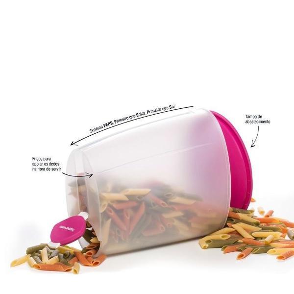 Tupperware modular millennium 2,5 litros rosa e transparente