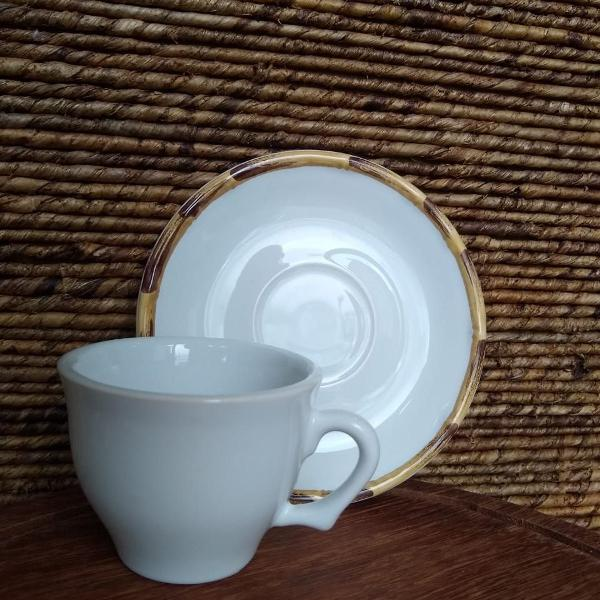 Xícara de café com pires bambu scalla (347)