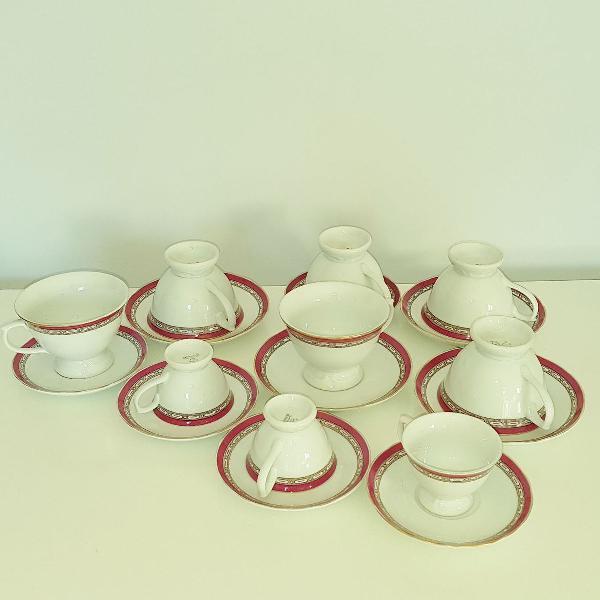 Xícaras de porcelana schimidt