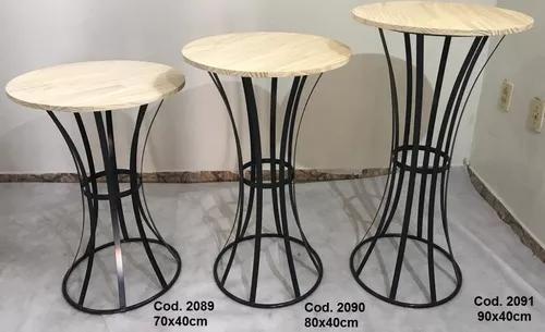 03 mesas elegante (madeira pinus)