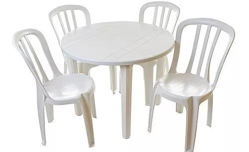 10 jogos de mesas redonda desmontável c/40 cadeiras