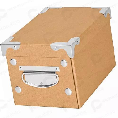 6 caixa organizadora kraft para closet armário guarda