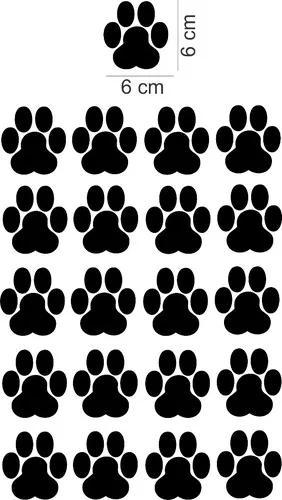 Adesivo parede kit pet shop pata patinha cachorro gato