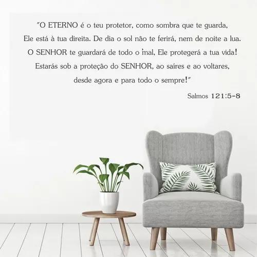 Adesivo parede religioso versiculo biblico salmos 121