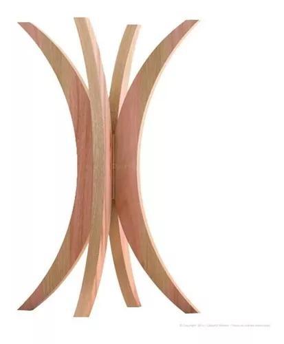 Base para mesa rima madeira maciça 72 x 46 x 46
