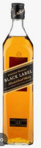 Black label 12 anos caixa wiskey