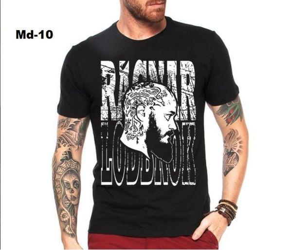 Camiseta vikings ragnar masculina