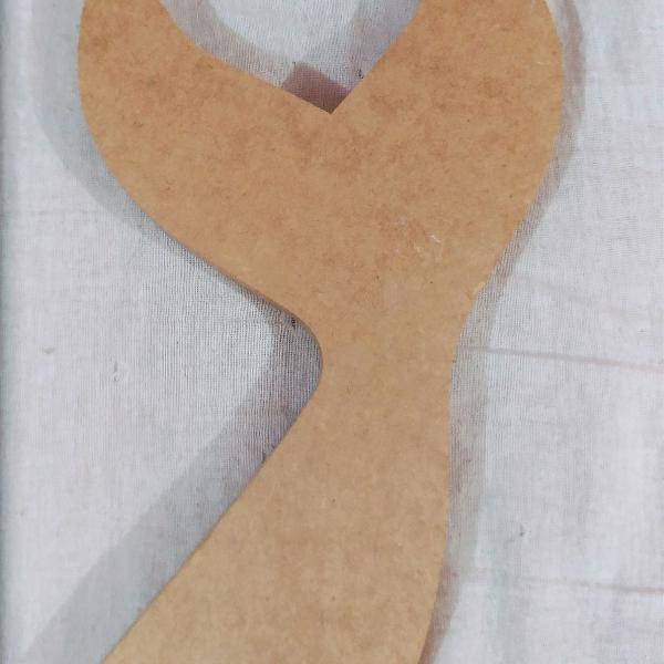 Cauda de sereia em mdf