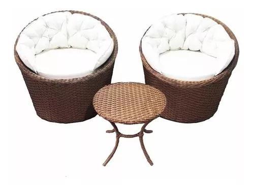 Conjunto 2 mini chaise + 1 mesinha de centro