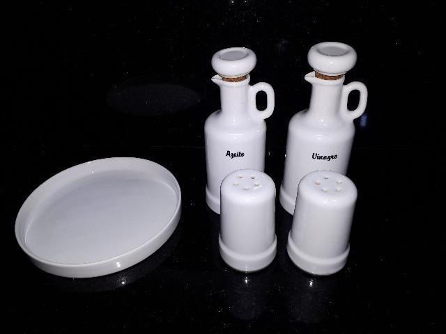Conjunto galheteiro porcelana by pozzani