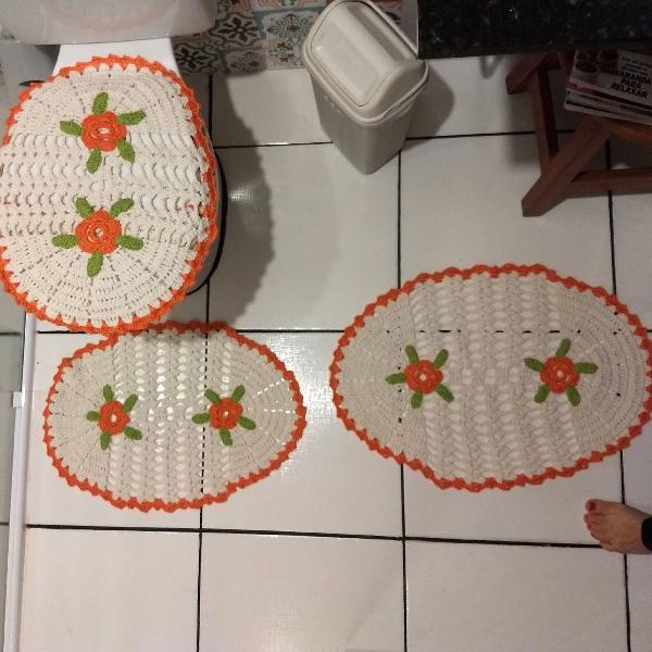 Conjunto para banheiro crochê