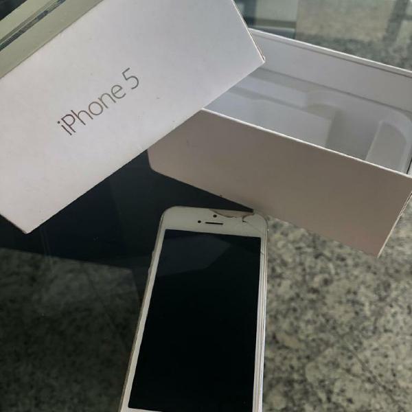 Iphone 5 branco 16gb