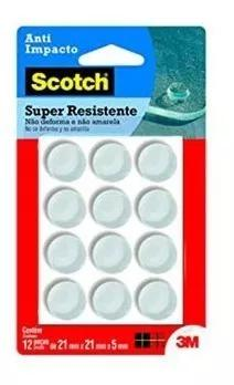 Kit 12 und protetor 3m scotch anti impacto redondo