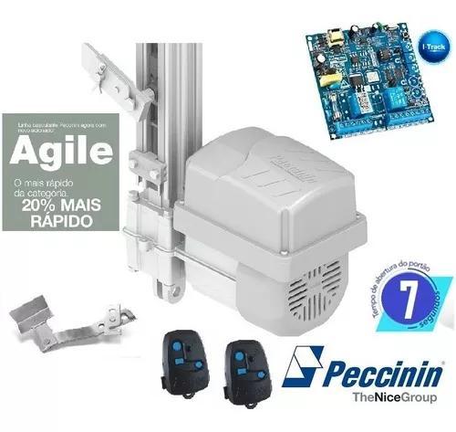 Kit motor portão basculante flash 1/3 cv peccinin - 7 seg