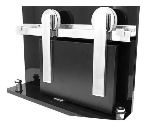Kit trilho roldana porta de correr escovado 3 mt até 50kg