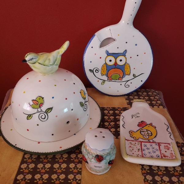 Kit de porcelanas artesanais
