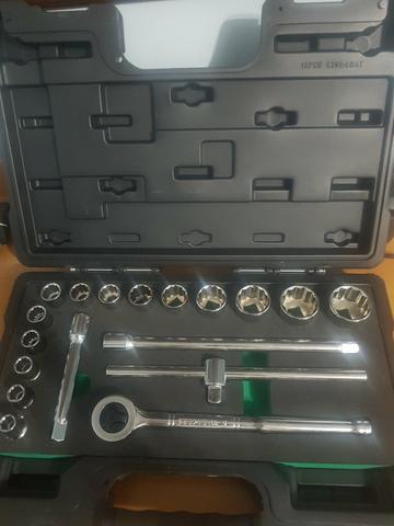Kit de ferramentas soquetes estriados novos