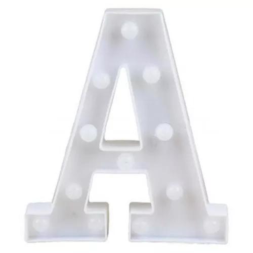 Letra led a plástico branco