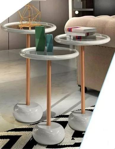 Mesa de canto lateral decorativa laqueada frete grátis