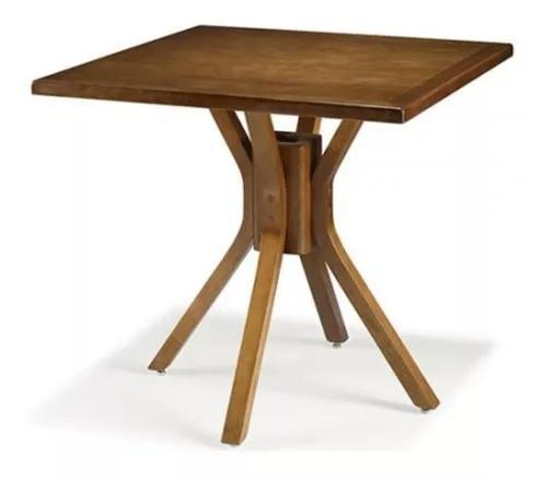 Mesa de madeira quadrada bar bistro 80cm - decorei b