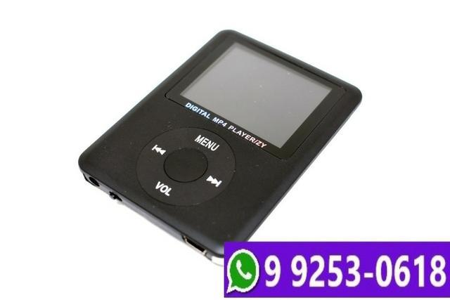 Mp4 player mini knup multimídia stereo rádio fm micro sd