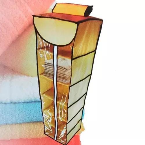 Organizador 6 prateleiras com zíper roupas sapateira