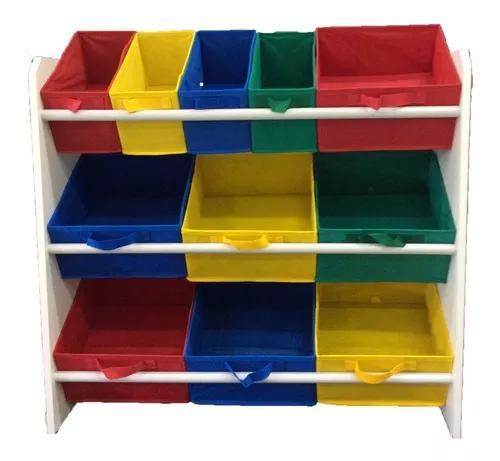 Organizador para brinquedo infantil montessori colorido