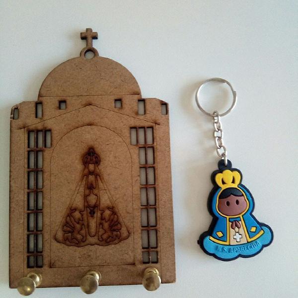 Porta chaves e chaveiro nossa senhora