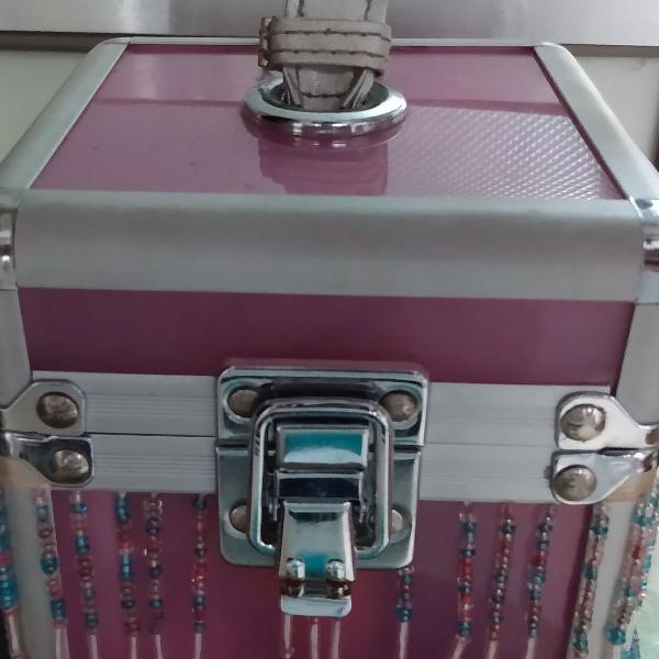 Porta jóias rosa pequeno estilo barbie