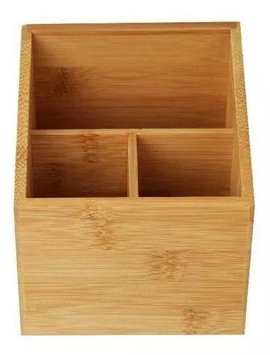Porta objetos bambu 12cm - a/casa