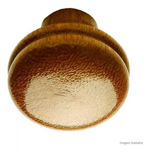 Puxador botão navelli grande de madeira marfim fixtil