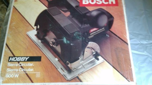 Serra circular elétrica bosch 600w - hobby