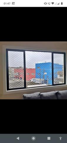 Telas de proteção para janelas sacadas