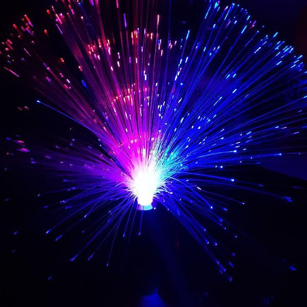 Abajur de fibra ótica liiiindo