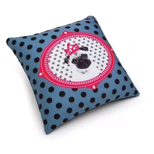 Almofada pink pug da imaginarium decoração cão da raça