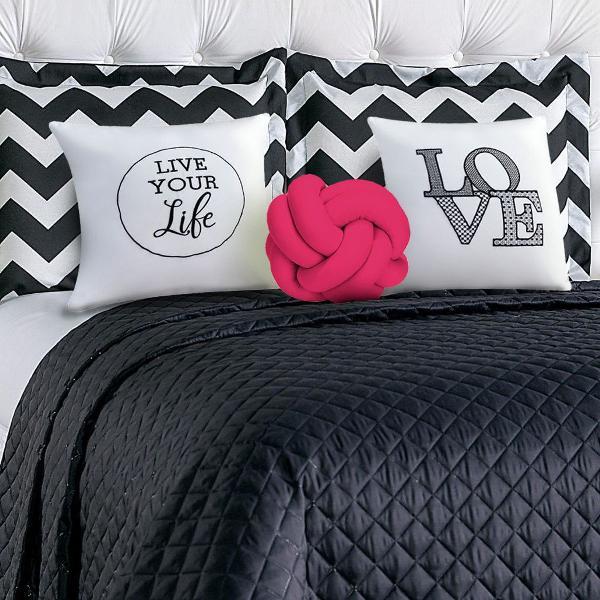 Cobre leito cama casal queen kit isabela 8 peças chevron