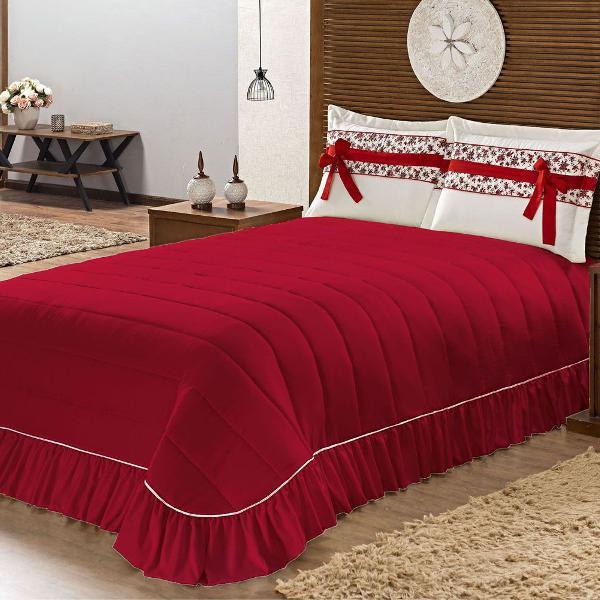 Cobre leito cama queen kit bakita 3 peças